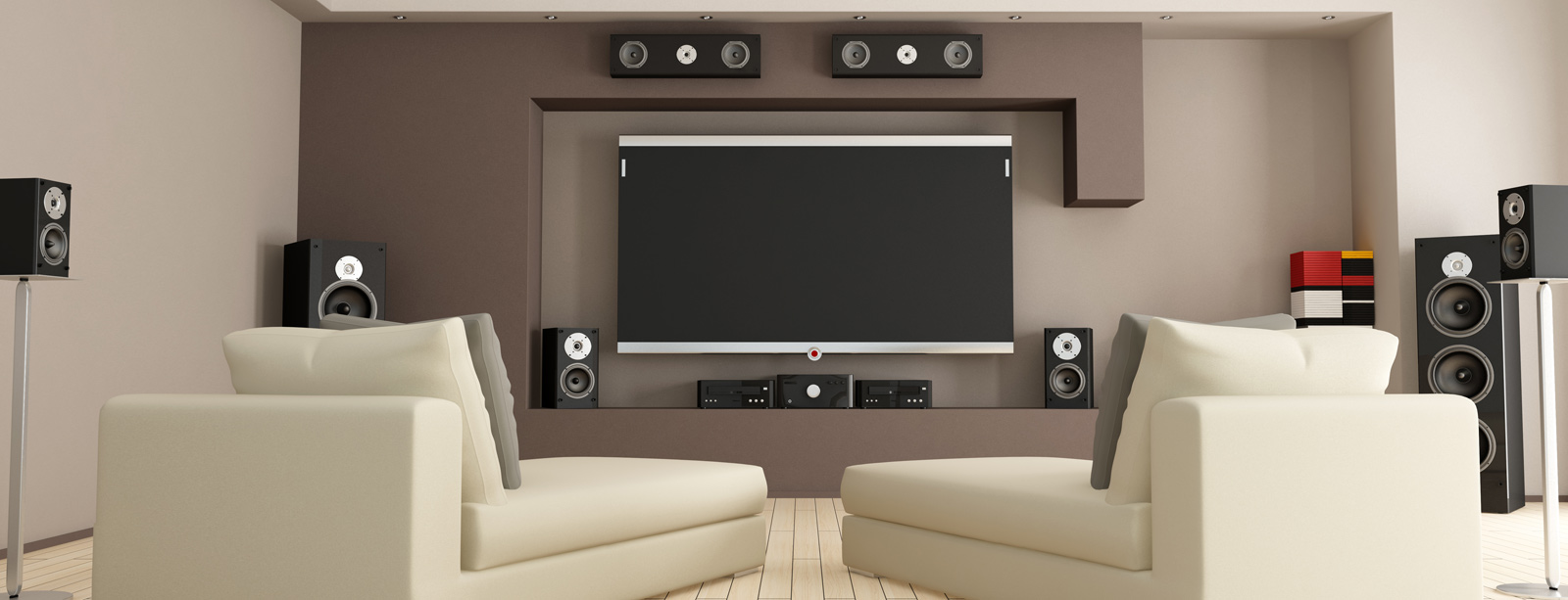 Home theater listening room
